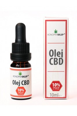 Olej konopny 10% CBD 10ML 1000mg