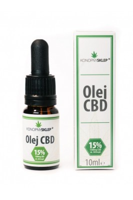 Olej konopny 15% CBD 10ML 1500mg