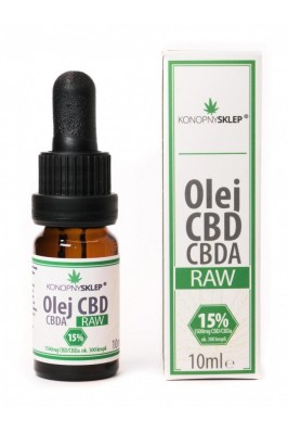 Olej konopny RAW 15% CBD+CBDA 10ML 1500mg